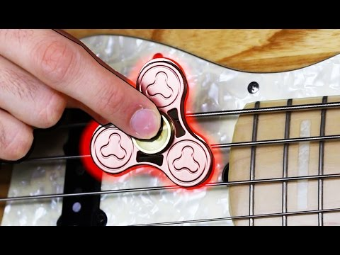Fidget Spinner on BASS GUITAR