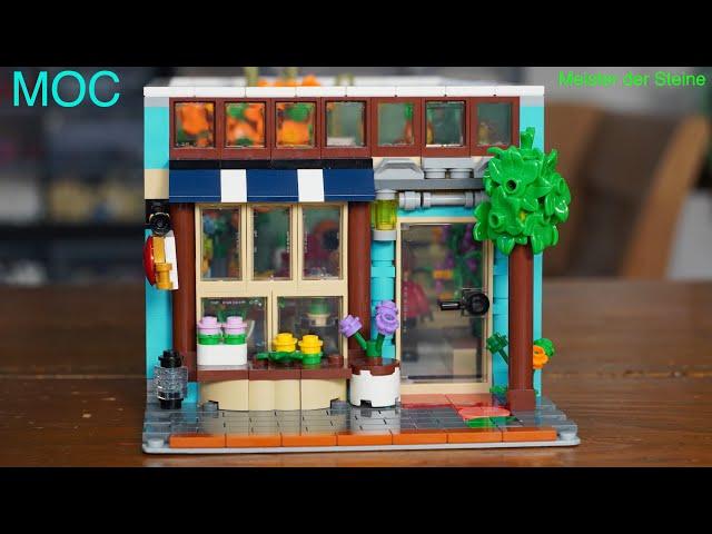 Meister der Steine, MOC mein eigenes CREATOR HAUS, Blumenladen, flower shop, Teil 1
