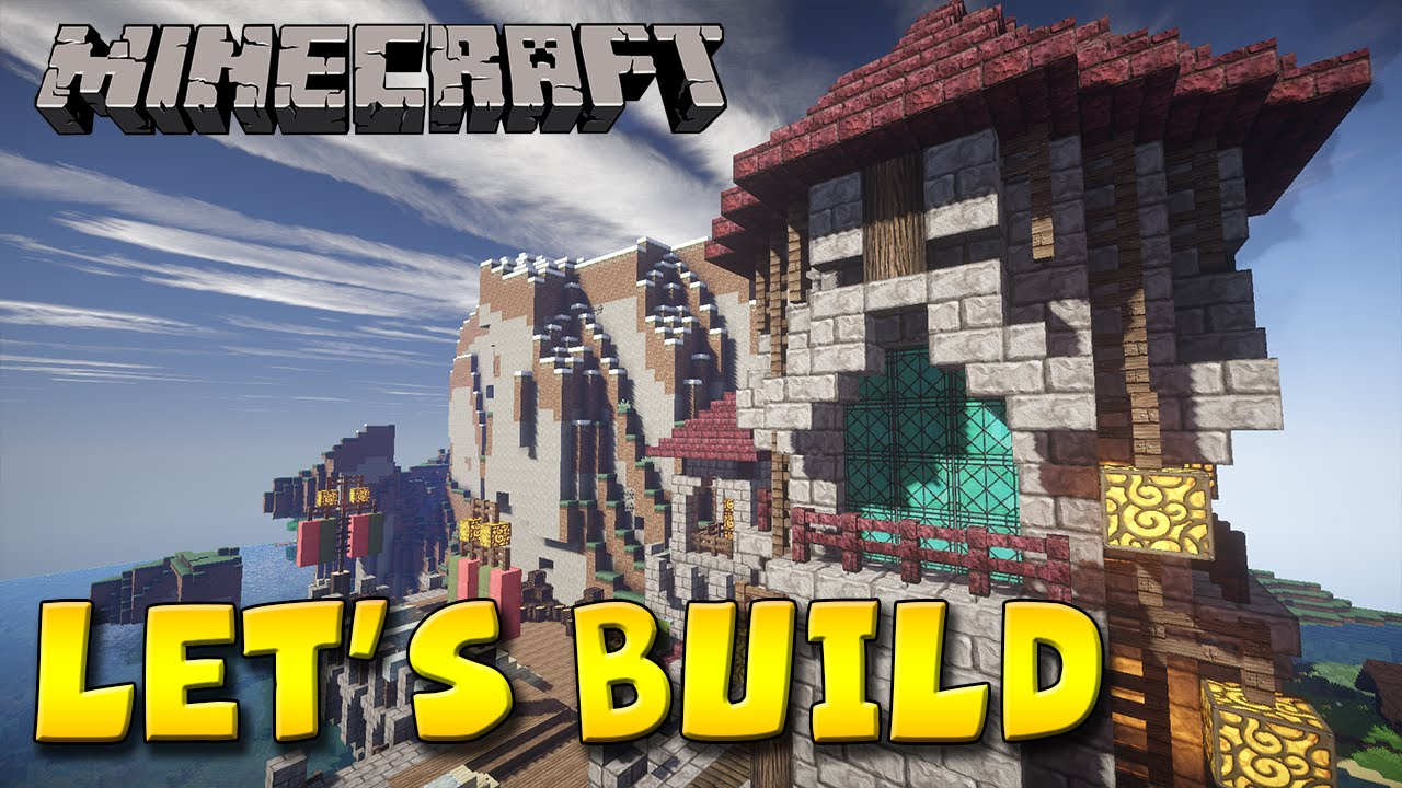 Minecraft Let's Build - Naval Sea Port 1 - YouTube