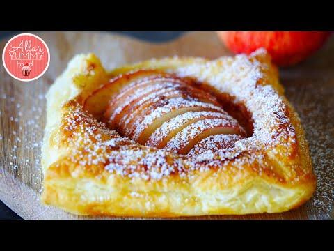 Quick & Easy Apple Tart Recipe | Яблочный пирог из слоеного теста