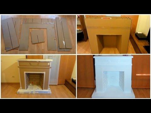 como hacer una chimenea falsa de carton paso a paso
