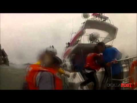 South Korea Ferry / Ship Sinking Raw Rescue Footage
