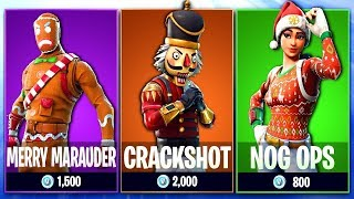 NOG OPS & Yuletide Ranger 2018! | CHRISTMAS SKINS ARE BACK! | 9,170+ Kills 💀 615+ Win (Fortnite BR)