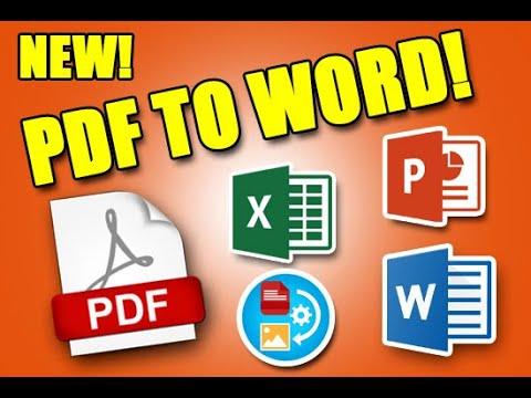 MABILISANG PAG CONVERT NG PDF TO WORD, EXCEL, POWERPOINT AT IBA PA SOBRANG DALING GAMITIN! PANOORIN!