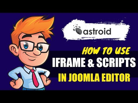 How To Use IFrame And Scripts In Joomla Content Editor