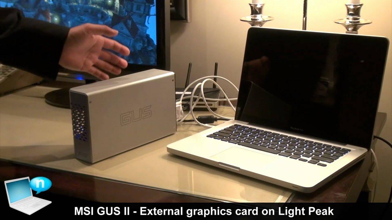 MSI GUS II - External graphics card on Light Peak - YouTube