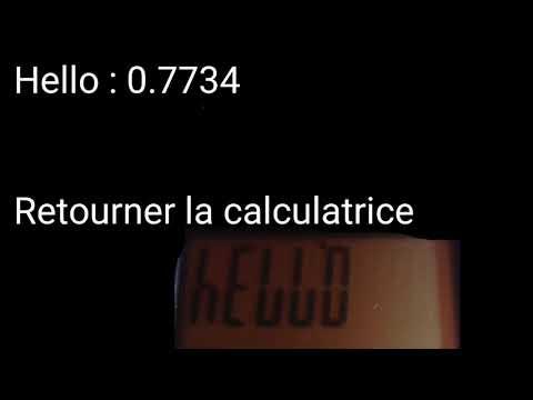 Comme écrire hello lol elle baise et soleil sur sa calculatrice