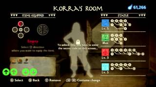 The Legend of Korra (PC) - How to unlock All Costume and Secret Item w/ Codes (XBOX/PS3)