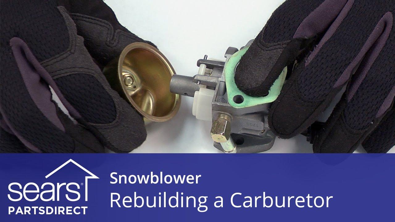rebuilding a carburetor on a snowblower sears partsdirect [ 1280 x 720 Pixel ]