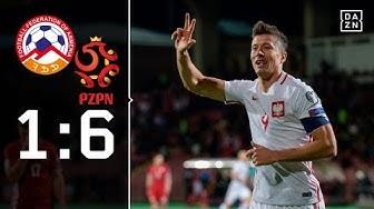 Lewandowski trifft dreifach!  Armenien - Polen 1:6 | Highlights | WM-Quali | DAZN