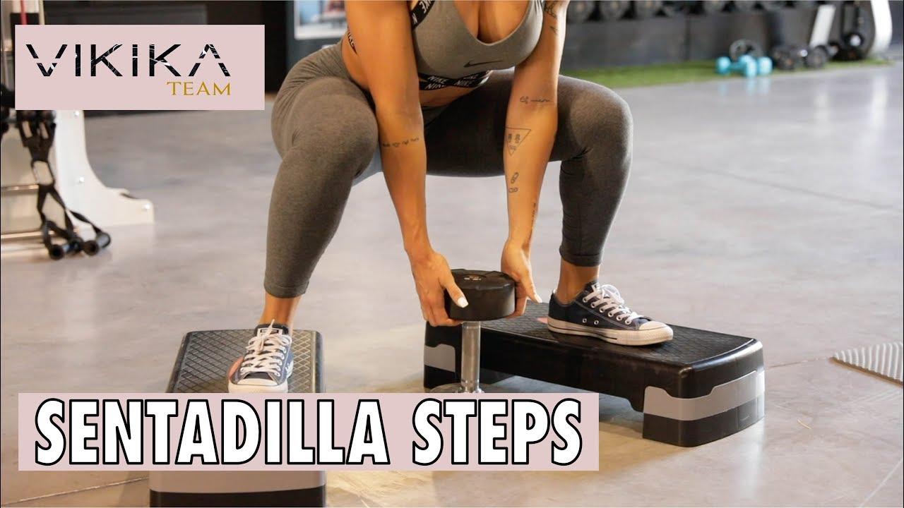 Sentadilla sumo con step