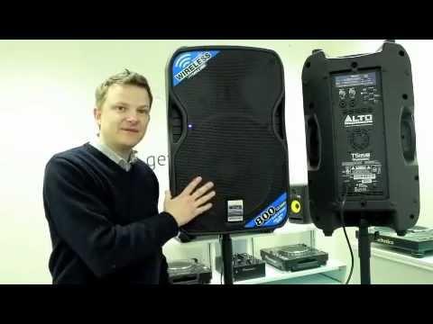 alto ts115w wireless active dj pa speakers demonstration youtube. Black Bedroom Furniture Sets. Home Design Ideas