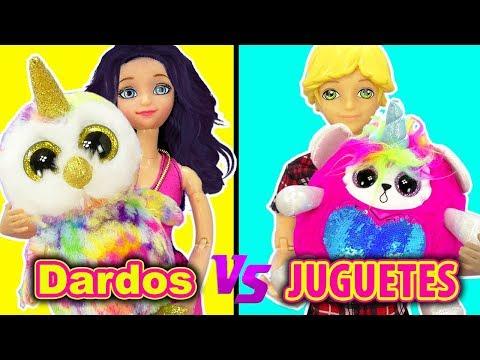 Marinette y Adrien con Bebe Unicornio Y LOL Surprise en el reto del Dardo