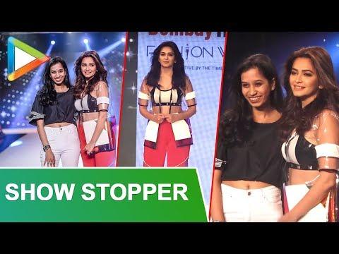 Kriti Kharbanda SHOW-STOPPER For Sumiksha Goenka At BOMBAY TIMES FASHION WEEK