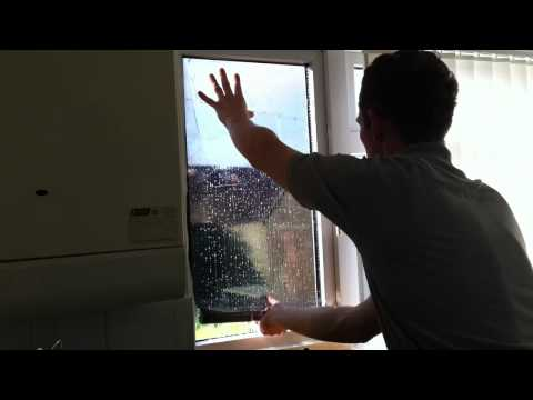 How to Install / Fit DIY Solar Window Film Tinting to Glass