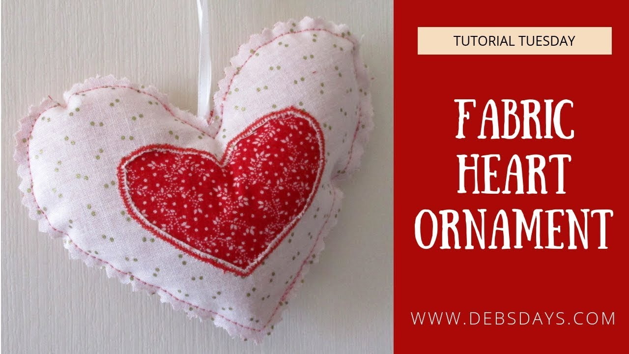 How to make a reverse applique heart ornament sewing project youtube
