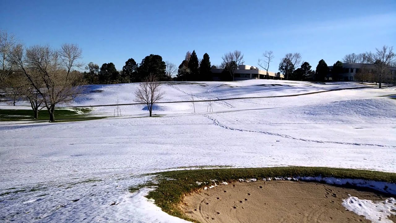 Inverness Golf Course - Snow Melting Panorama - YouTube