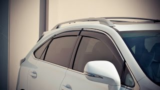 WELLvisors side window deflector vent visor Installation Video LEXUS RX350 RX450h 10-15