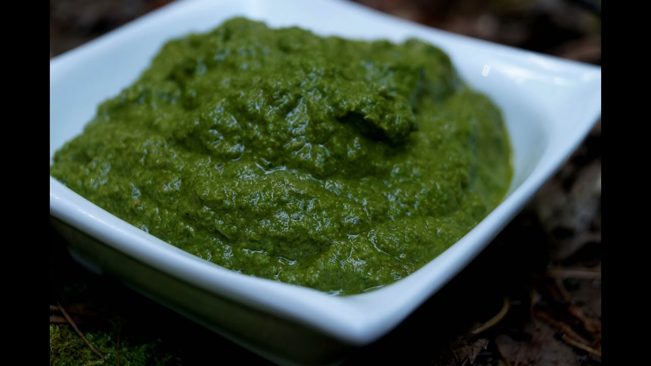 Raw Vegan Basil Pesto - YouTube