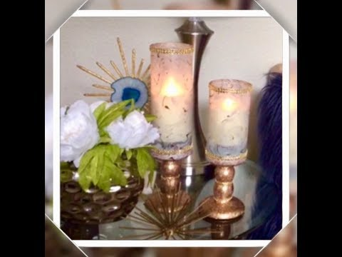 DIY Dollar Tree Glam Candle Holders Marble Rose Gold Home Decor Ideas Elegance For Less 2018