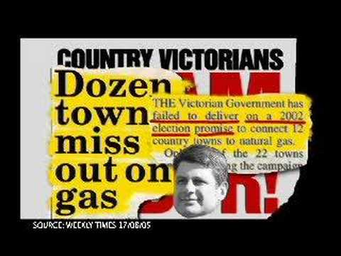 BRACKS GOVERNMENT DECEIVES COUNTRY VICTORIA OVER NATURAL GAS