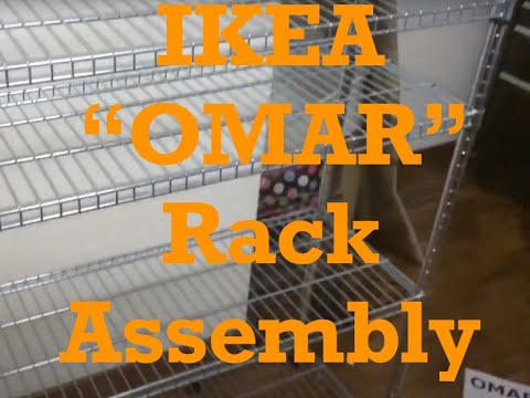 "DIY IKEA Brand ""OMAR"" Model Wire Storage Racks-Basic Assembly Directions"