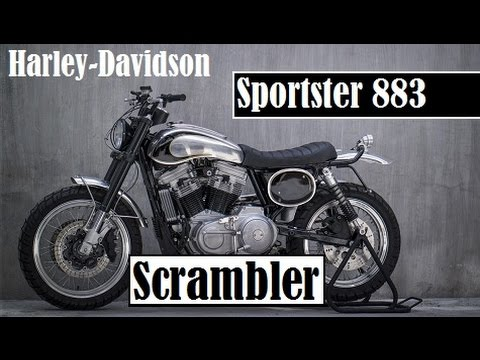Harley Davidson Sportster 883 Scrambler The Latest Creation By Benjie S Café Racers