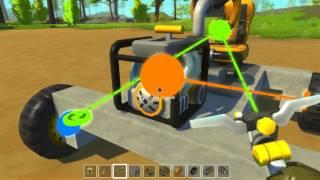 как сделать машину для новичков в scrap mechanic