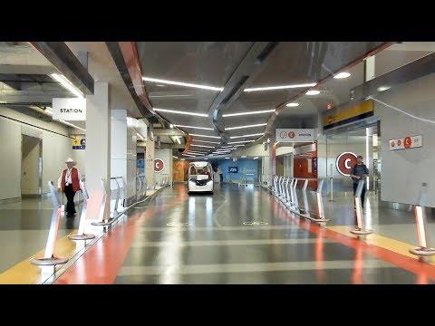Calgary Airport And Futuristic Passenger Shuttle - Alberta Canada