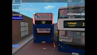idiot bus driver scrapes the side of my bus!!! |roblox|
