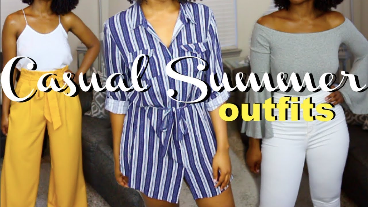 c851a3b4aa7ca Casual Summer Outfits 2018 - YouTube