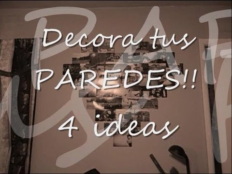 Decora tus paredes 4 ideas faciles youtube for Ideas para decorar paredes de jardin