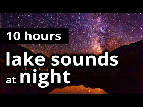 """SLEEP SOUNDS: """"Lake sounds at night"""" - Evening chorus of crickets, frogs, and cicadas - RELAXATION"""