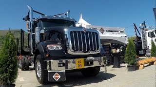 2016 ILA LOGGING SHOW -- Setting Up: FREIGHTLINER & INTERNATIONAL TRUCKS. 1st IH HX620 in Canada