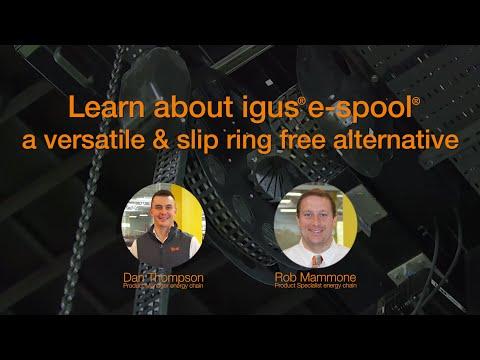 Learn about igus® e-spool - a versatile & slip ring free alternative