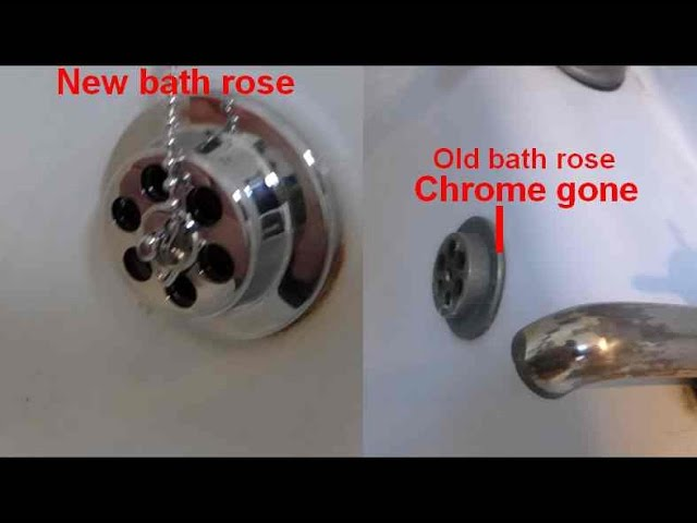 How To Renew The Bath Waste If The Chrome Rose And Waste Grid Are Tarnished Youtube