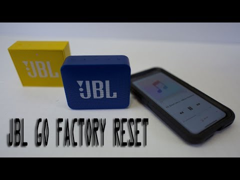 Howto RESET JBL GO And GO2