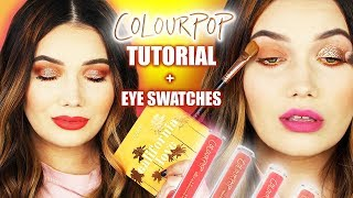 COLOURPOP California Love Tutorial + FACE Swatches! | REAL Swatches By ThatGirlShaeXo