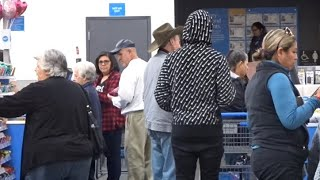 Cutting people in line and paying for their Groceries