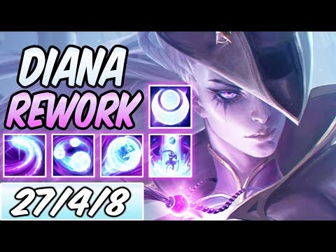 S+ DIANA REWORK GUIDE | New Build & Runes 40% CDR | Diamond Commentary | League of Legends | S10