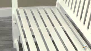 Assembly Video Pleasant Bay Glider Bench - White