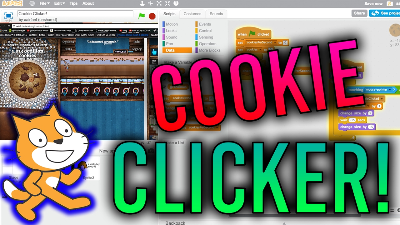 Scratch Tutorial: How to make Cookie Clicker! (Part 1)
