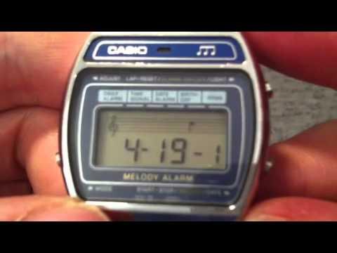 5e8e738e4 Casio Melody Alarm Vintage Digital Watch - YouTube