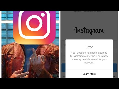 Unable to reactivate my instagram account