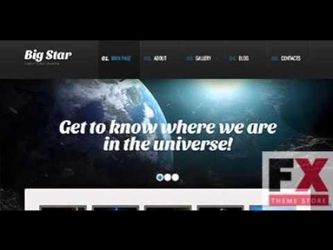 Preview Black Astronomy WordPress Theme By Mira TMT