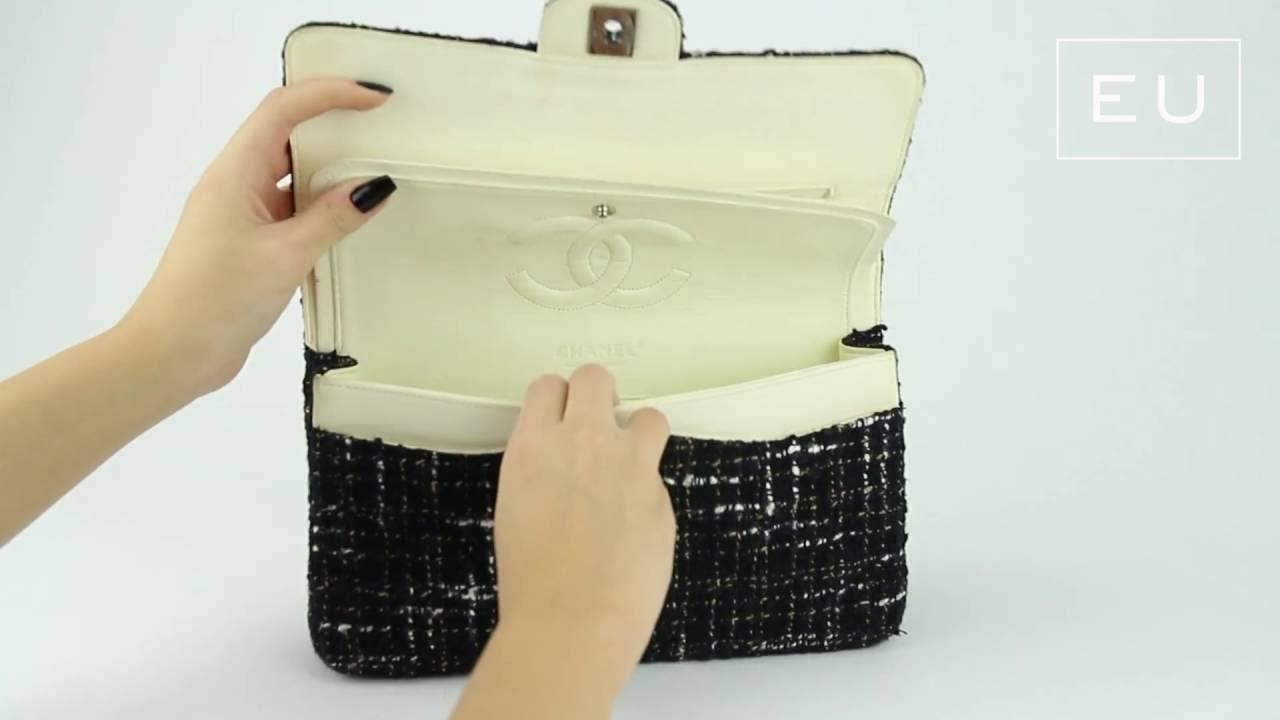 95843c7b9c56 Bolsa Chanel Double Flap Tweed | Etiqueta Única - YouTube