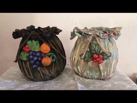 DIY flower vase from empty glass jar/DIY flower pot/glass jar craft/ glass bottle craft