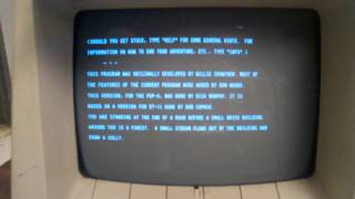 PDP/8e, RK05, VT52, Adventure