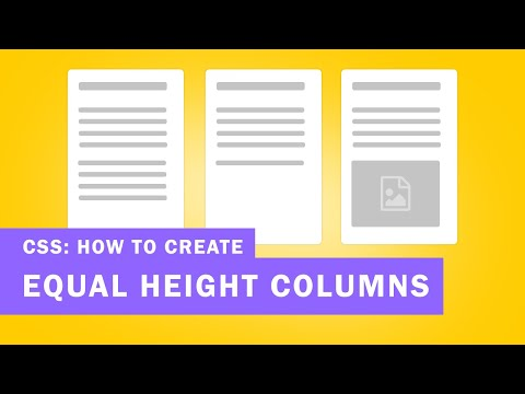 How To Create A CSS Equal Height Columns (Create Div Columns With The Same Height)