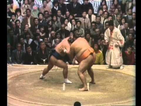 Tochiakagi vs. Takamiyama : Haru 1981 (栃赤城 対 高見山)